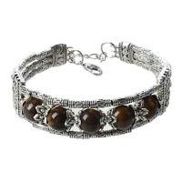 """Tibetan Tibet Silver Tiger Eye Bracelet Bangle 0.66"""" HOT M3S0"""
