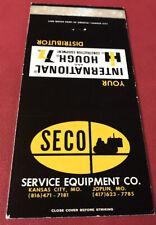 Matchbook Cover Seco Service Equipment Co. Kansas City & Joplin MO