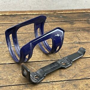 Specialized Water Bottle Cage Adjustable Blue Rare  Made in Japan