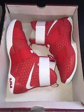 Nike LeBron Soldier 10 TB X Men's Size 10.5 UNIVERSITY RED/MTLLC SLVR 844380 601