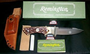 """Remington R6 Skinning Knife & Sheath """"Bushcrafters Special"""" W/Packaging,Papers"""