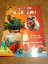 weihnachtliche Serviettentechnik, basteln, Ideen, Vorlagen Dekoration