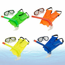 Junior Snorkel Mask and Fin Scuba Swimming Diving Snorkelling Holiday Kids Set