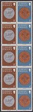 (T7-33) 1979 Guernsey 10block coins mixed value mint