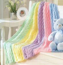 DK Knitting Pattern Baby's Beautiful Rainbow Blanket (125)