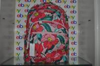 Vera Bradley Essential Large Backpack 23672-K26 Vintage Floral Pink Cotton NWT
