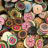 100Pcs Wooden 2Holes Wood DIY Buttons Craft Scrapbooking Round Sewing 20/25mm