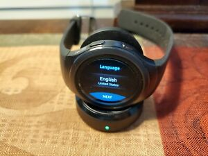 Samsung Galaxy Gear S2 44mm Stainless Steel Case Dark Gray Classic Buckle(AT&T)…