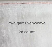 Zweigart, White, 28 Count Brittney - Evenweave for Cross Stitch (Various Sizes )