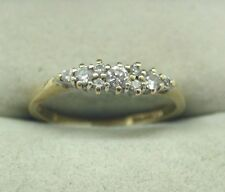A Very Nice 14ct Gold Nine Stone Cubic Zirconia Ladies Half Eternity Style Ring