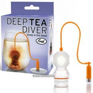 DEEP TEA DIVER INFUSER SCUBA DIVING LOOSE LEAF SILICONE CUP STRAINER GIFT BOX