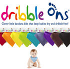 Dribble Ons Bandana Bib All Colours! Pink, Blue, White, Navy, Red, Black etc...!