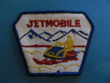 Vintage 1970s Snow Mobile Ski Doo Snowmobile Sled Hat Patch Jet Mobile Triangle