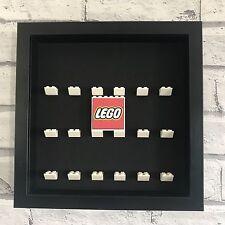 Mini Figures Blanc vitrine cadre noir lego brique série lego Logo