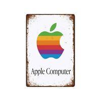 Apple Tin Metal Sign Rustic Advertising Wall Art decor Computer phone
