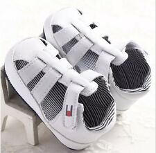 USA 12-18 M Boys Tommy Hilfiger Pu Leather Sandals Crib Shoes Soft Sole