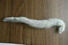 "1 vintage light grey mink tail 11.5"""