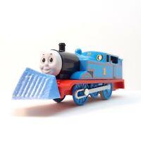 Thomas in Box With Snow Rake Custom Trackmaster Plarail Train Motorized Tomy