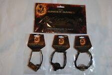 THE HUNGER GAMES BRACELET SET x 4 MOCKINGJAY KATNISS & PEETA DISTRICT 12 CORD
