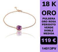 18K Pulsera Amatista Oro Rosa 18 Kilates 100%