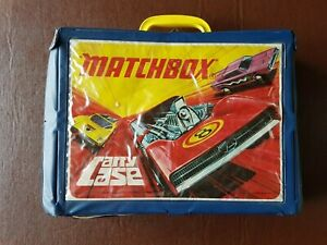 Vintage Matchbox/Lesney 1971 Carry Case with 49 vehicles - 4 full trays + 1 bike