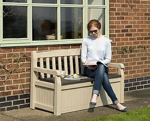 Bench Garden With Drawer Storage Furniture Exterior Patio Porch Resin