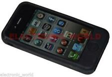 BLACK SILICONE CASE PROTECTOR FOR APPLE IPHONE 4 4G UK