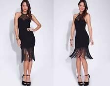 Sale Black High Neck Fringe Pinup Flapper Party 236 mv Dress S M L XL 2XL 3XL