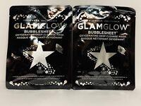 GLAMGLOW Glam Glow Bubblesheet Bubble Oxygenating Sheet Mask Set Lot of 2