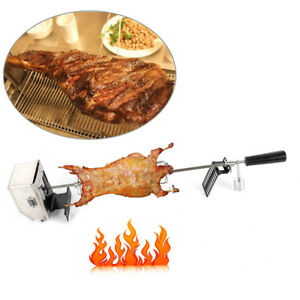 """52.5"""" Stainless Gas Electric Grill Rotisserie Kit Rod Charcoal BBQ Chicken Motor"""