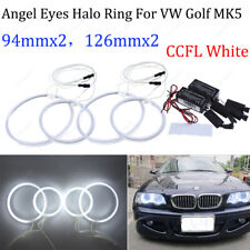 CCFL For VW Golf Jetta MK5 GTI R32 03-09 Angel Eyes Halo Rings Devil DRL White
