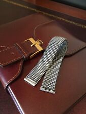 Vintage Italian Stainless Steel Tessuflex Watch Strap Band 18mm Quality