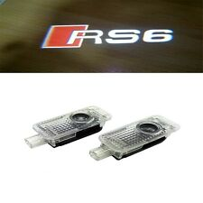 S LINE RS6 Led Door Welcome Light Projector OSRAM Logo Emblem HD For AUDI RS6 RS