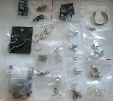 40 Pairs BNWT & Used Earrings Non Broken No Stones Missing Excellent For Resale