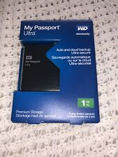 WD My Passport Ultra 1 TB Portable External USB 3.0 Hard Drive with Auto Backup