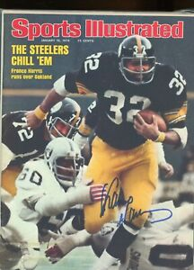 FRANCO HARRIS PITTSBURGH STEELERS SPORTS ILLUSTRATED signed autographed