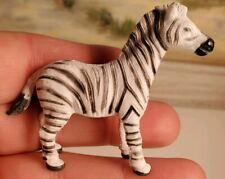 "Zebra Collectible Miniature Figurine Pvc Toy Safari 2X2.5"""