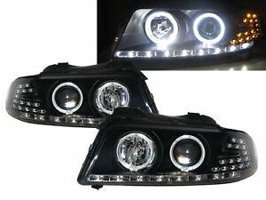 A4 A4/S4 B5 8D MK1 1999-2001 Projector LED Headlight Black EU for AUDI LHD
