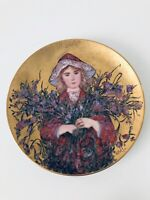 Edna Hibel IRIS 2nd Edition in Flower Girl Series Collectors Plate Signed