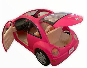 Barbie VW Beetle Bug Mattel 2000 Pink Volkswagen Toy Car