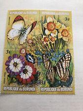Burundi, Sc #437, Perf, MNH, 1973, Butterflies, Flowers, Plants, A450IIDcx