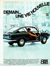 PUBLICITE ADVERTISING 026  1965  Fiat le coupé 850