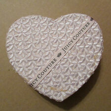 Juicy Couture Heart Storage Jewelry Box Ribbon Embroider Flowers