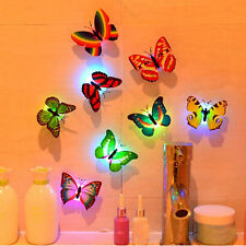Colorful Changing Butterfly LED Night Light Lamp Home Room Party Desk Wall Decor