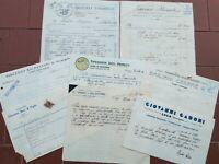 1920 109) ATTIVITA' COMMERCIALI A LUGO PRIMA DELLA GUERRA - LOTTO FATTURE