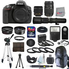 Nikon D5300 SLR Camera Body + 5 Lens Kit: 18-55mm VR + 70-300mm + 500mm and More