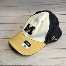 Adidas Michigan Wolverines Baseball Hat Vintage Look Size S/M Embroidered