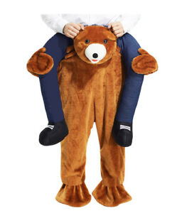 Adult Mascot Ride On Teddy Bear Fancy Dress Costume Carry On Shoulder Costume