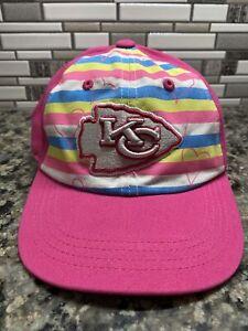 NFL Team Apparel Youth Hat  Baseball Cap Chiefs Kansas City Pink Girls Hearts