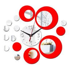 3D Acrylic Mirror Quartz Watch Wall Clock Diy Stickers Modern Clocks Home Decor